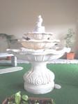 fontana in graniglia di marmo bianco di carrara