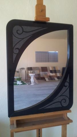 Specchiera in Granito Nero Assoluto
