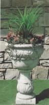 Vaso Murano in graniglia di marmo di Carrara e cemento bianco